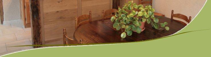 Table de la cuisine du gîtes des bouleaux