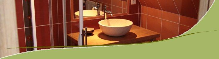 Salle de bain du gîtes des chênes