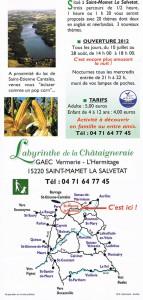 Labyrinthe de Maïs de la Châtaigneraie Verso