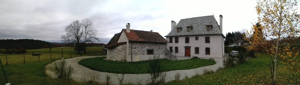 Vue panoramique du gîte des Bouleaux